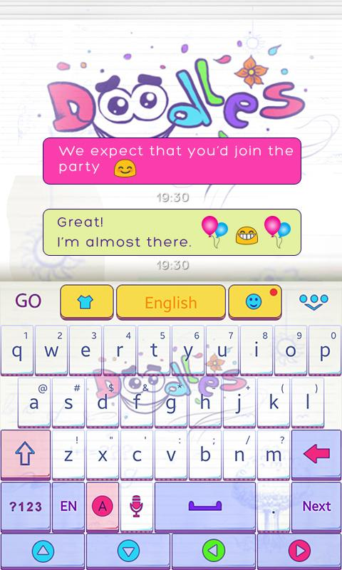 Doodles-GO-Keyboard-Theme 9