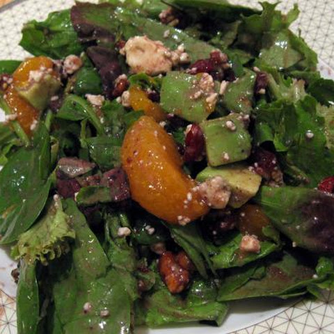 Cranberry, Glazed Walnut, Orange, Avocado and Blue Cheese Salad