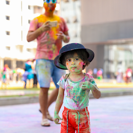Holi Festival India by Ananth Eswar - Babies & Children Child Portraits ( india, holi, alphaphotography, holifestival, anantheswar )
