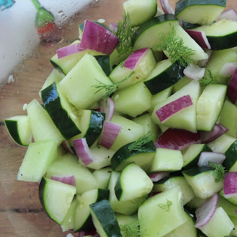 Honeydew Cucumber Salad with Homemade Dressing
