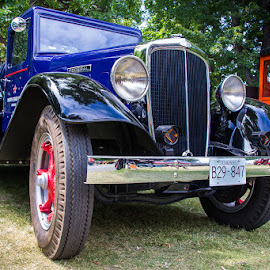 Yesterday's Tank Truck by Ron Mullins - Transportation Automobiles ( federal, blue, truck, chrome, car show, tank truck, restored, antique )