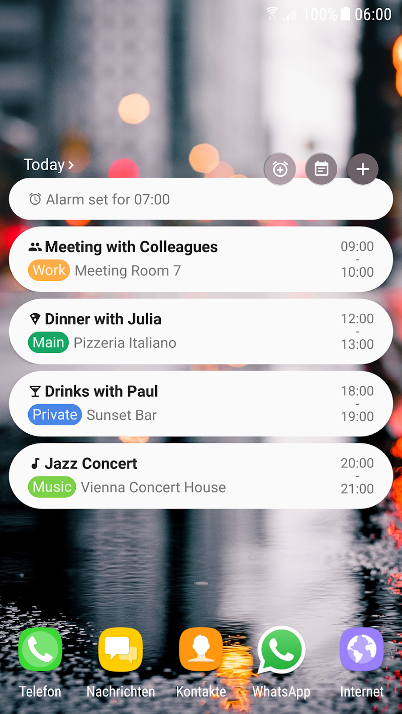 Calendar Agenda Widget (Material Design) Screenshot 2