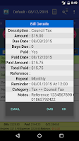 Screenshot of MoBill Budget and Reminder
