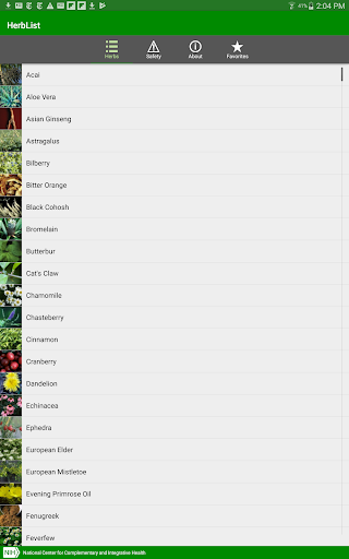 HerbList screenshot for Android