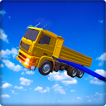 Flying Truck Flight Driving Icon