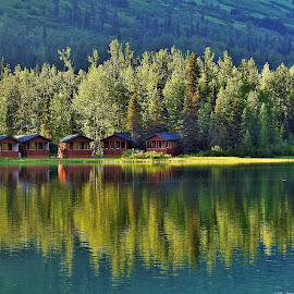 Summer Reflections by Patricia Phillips - Landscapes Travel ( summer alaska lakes reflections )