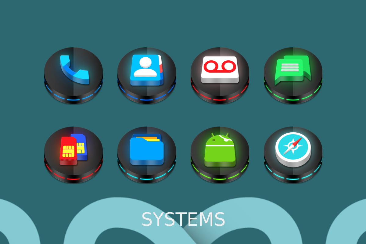 Neon 3D icon Pack Screenshot 12