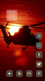 Beautiful red sunset theme - screenshot