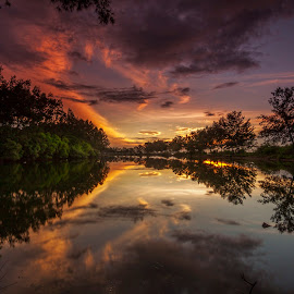 Sunrise at Serangan Island by Ade Irgha - Landscapes Sunsets & Sunrises ( clouds, bali, trees, sunrise, landscape )