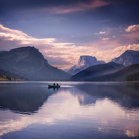 Green River Lakes Sublime by Clement Stevens - Landscapes Sunsets & Sunrises ( wy, squaretop mountain, sunrise )