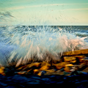 Splash by Carlos Holt - Landscapes Waterscapes ( abstract, water, splash, wave )