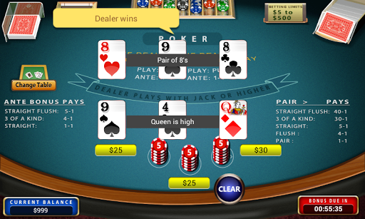 Three Card Poker - screenshot