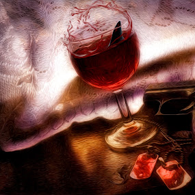 Philosophy of war by Pranav Babu - Artistic Objects Other Objects ( wine, shark fin, blood, gun, curtain )