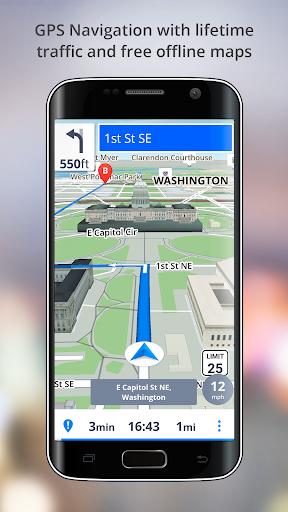 GPS Navigation - Drive with Voice, Maps & Traffic screenshot 1