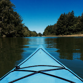 blue kayak by Bob Applegate - Instagram & Mobile iPhone ( bay, iphone, boat, kayak, river )