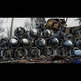 Abandoned USA Air Force 1's by Dawn Robinson - Transportation Airplanes