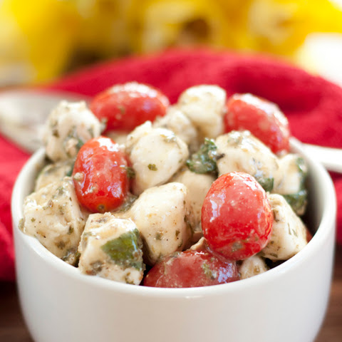 Marinated Mozzarella Tomato Basil Salad