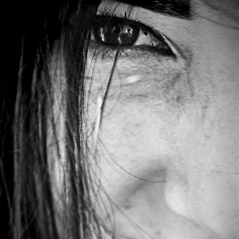 the eyes by Emi Petre - People Body Parts ( blac and white, women, eyes )
