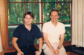 With Esa Pekka Salonen at Stravinsky's Former Home, North Wetherly Drive, Beverly Hills, USA, 1995
