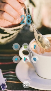 Cute coffee mugs theme - screenshot
