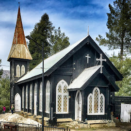 Church  by Abdul Rehman - Instagram & Mobile iPhone ( pakistan, saint marry, wood, church, kpk, hill station, small )
