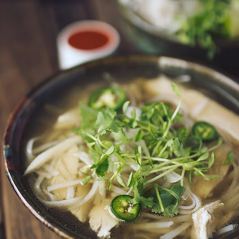 Chicken Pho (Vietnamese Noodle Soup) {gluten-free and dairy-free, paleo-option}