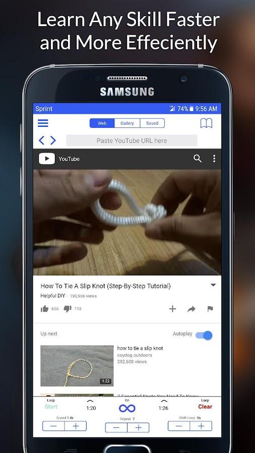 Loop2Learn - Schleifen von Videos aus YouTube android apps download