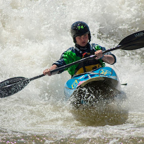 The Whitewater Rider by Thomas Vasas - Sports & Fitness Watersports ( watersports, sports, whitewater sports, whitewater,  )