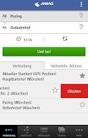 Screenshot of MVG Fahrinfo München