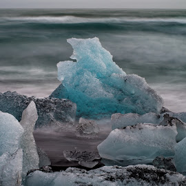by Péter Mocsonoky - Nature Up Close Water ( icelandic, iceberg, europe, ocean, volcanic, north, beach, beauty, travel, frozen, atlantic, landscape, cold, nature, ice, arctic )