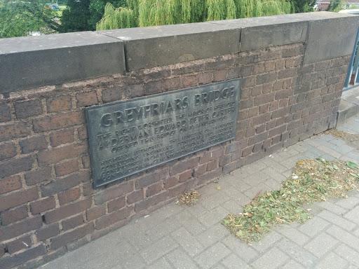 Grey Friars Bridge Plaque