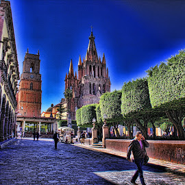 san miguel de allende, mexico by Jim Knoch - Buildings & Architecture Places of Worship