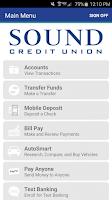 Screenshot of Sound CU Mobile