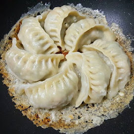 Home made Gyoza with thin crispy crust  by Pauline Goh - Food & Drink Cooking & Baking ( #gyoza #homemade #homecooked #fooddigest )