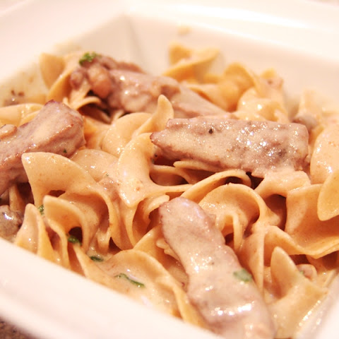Clean Eating Beef Stroganoff