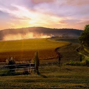 Il Lavoro nei campi by Mark Soetebier - Landscapes Sunsets & Sunrises ( pienza, tuscany, italia, toscana, sunset, italie, sunrise, italy, unesco,  )