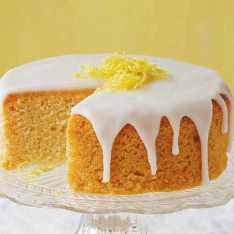 French Lemon Cake with Lemon Glaze
