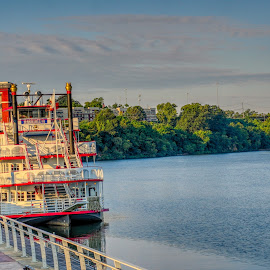 Rolling on the River by Rex Murr - Transportation Boats ( water, hdr, river boat, boat, river )