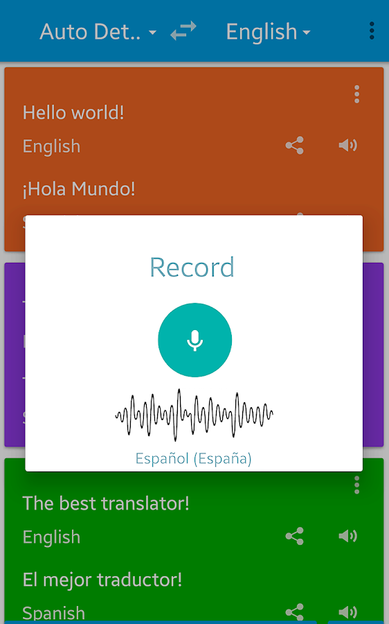Translate voice - Pro Screenshot 0