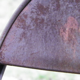 Weathered Chair by Kasha Newsom - Artistic Objects Furniture ( nature, metal chair, summer, furniture, rust )