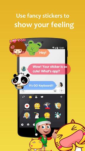 GO Keyboard - Emoticon keyboard, Free Theme, GIF screenshot 5