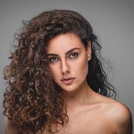 by Bojan Jovanovic - People Portraits of Women ( beauty, closeup, portraits of women, curly hair, portrait )
