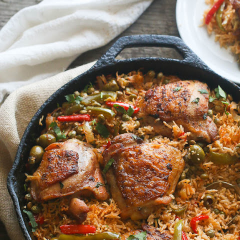 One Pot Puerto Rican Chicken & Rice