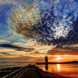 sunset by Roy Davenport - Landscapes Sunsets & Sunrises