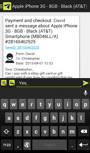 Comomail messenger for eBay - screenshot