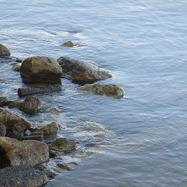 Rippling Against the Rocks by Marcia Taylor - Nature Up Close Water (  )