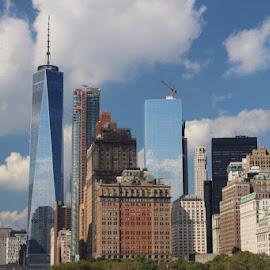 NY Skyline by Amanda Ferrer - City,  Street & Park  Skylines