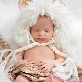 lion by Helena Lindgren - Babies & Children Babies ( lion, baby girl, cute, newborn )