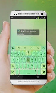 Green eyes TouchPal Skin - screenshot