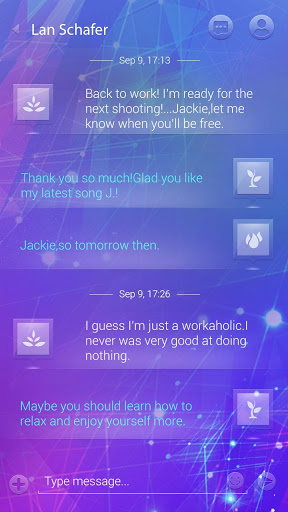 (FREE) GO SMS GLASS III THEME Screenshot